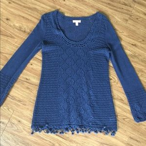 Lilly Pulitzer Athena Sweater Size Medium Navy